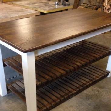 Kitchen Island with Open Shelves, Rustic Kitchen Islands, Shabby Chic, Wood Kitchen Island, Custom Made, Utility, Prep Table, Butcher Block, Skaggs Creek Wood Shop