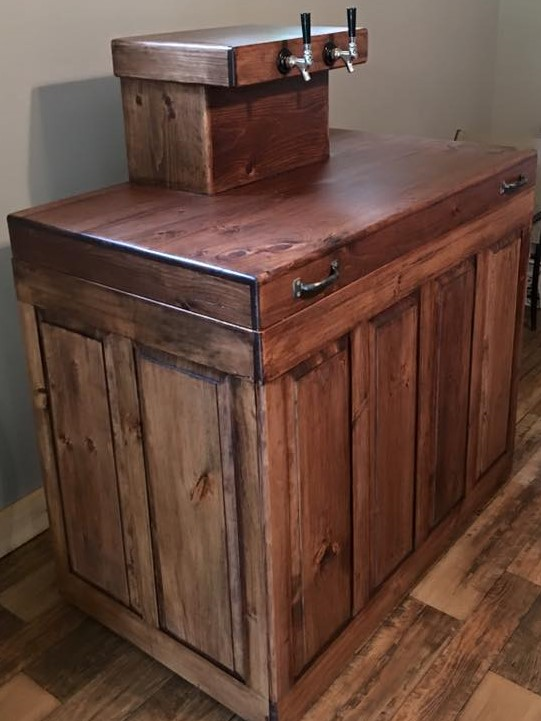Beau Custom Made Kegerator Cabinet   Skaggs Creek Wood Shop, Tyler Adams