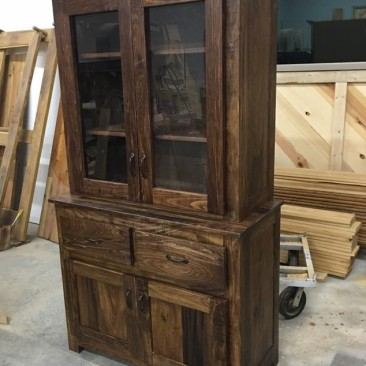 China Cabinet, Hutch, Display Cabinet, Kitchen & Dining Room Furniture, Multi-Purpose Cabinet, Reclaimed Custom Made, Skaggs Creek Wood Shop