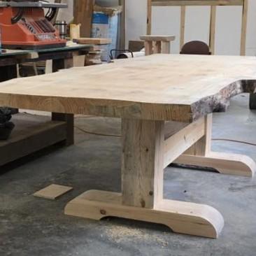 Custom Made Live Edge Wood Kitchen Table - Skaggs Creek Wood Shop, Tyler Adams