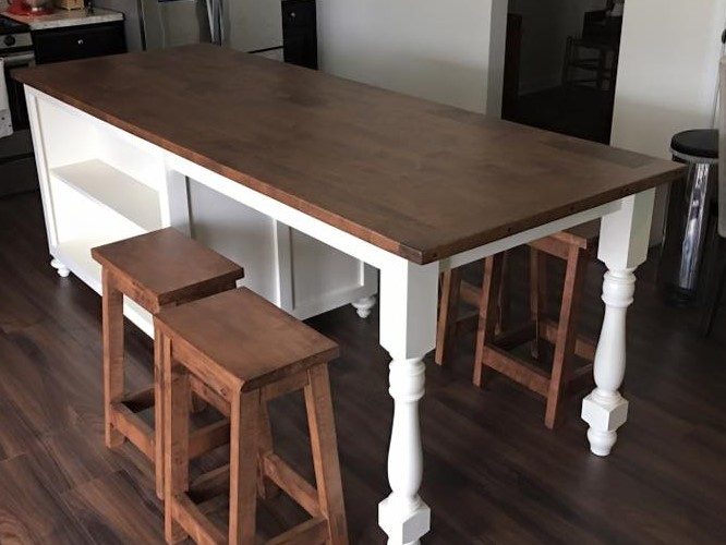 Custom Made Kitchen Islands With Seating   Skaggs Creek Wood Shop, Tyler  Adams