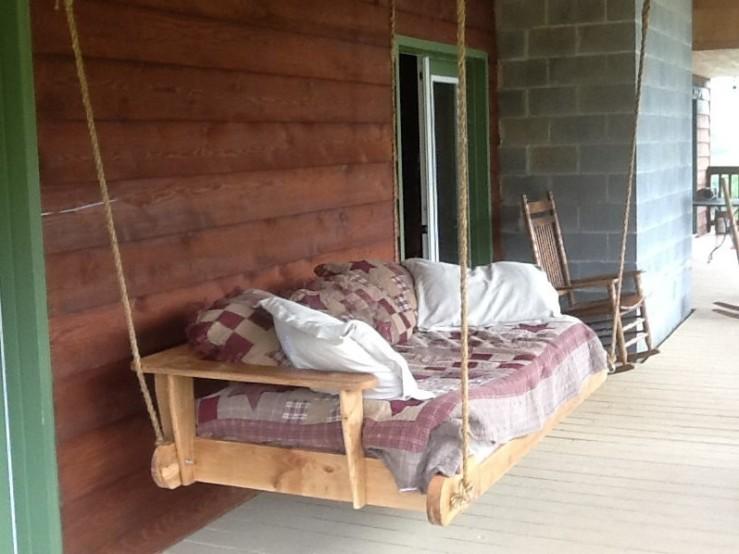 Custom Made Daybed Porch Swings - Skaggs Creek Wood Shop, Tyler Adams