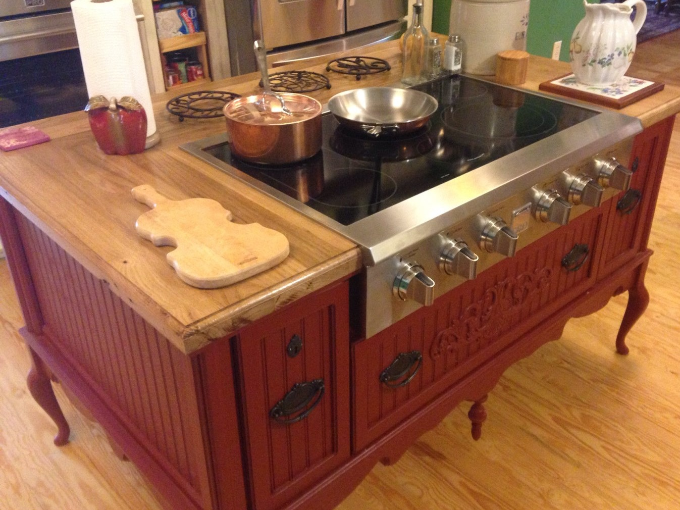 Kitchen Island With Slide In Stove