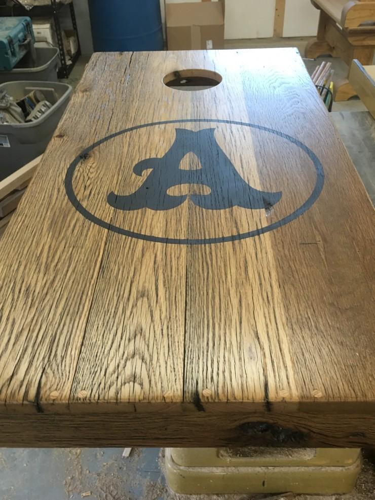 Custom Made Personalized Wood Cornhole Board Set - Skaggs Creek Wood Shop, Tyler Adams