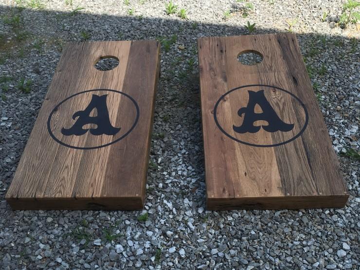 Custom Made Personalized Cornhole Board Set - Skaggs Creek Wood Shop, Tyler Adams