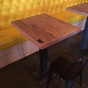 Cafe Table, Pub Bar Tables, Square Restaurant Tables, Dining Tables, Table Tops, Outdoor Patio Tables, Custom Finish, Skaggs Creek Wood Shop