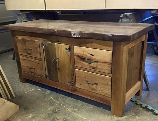 Rustic Wood Vessel Sink Vanity, Bathroom Vanities, Vanity Cabinets, Rustic Bathroom Furniture, Kitchen Sink Cabinet, Storage, Skagg Creek Wood Shop
