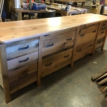 Barn Wood Base Cabinets, Barnwood Counter Top, Rustic Buffet Table, Large Kitchen Cabinet, Garage Cabinets, Storage, Skaggs Creek Wood Shop