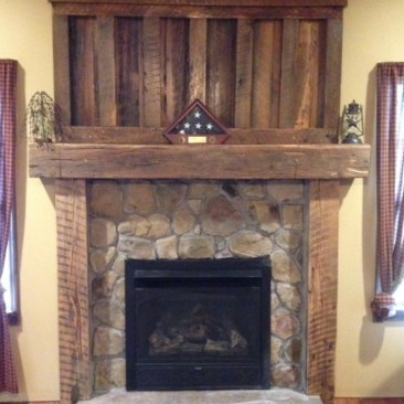 Fireplace Mantel, Fireplace Surround Kit, Cabin Wood Mantle, Fireplace Shelf, Barn Beam, Rustic Reclaimed Barn Wood, Skaggs Creek Wood Shop