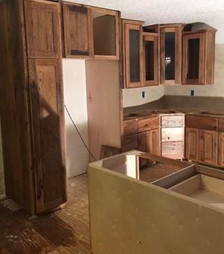 Barnwood Kitchen Cabinets, Rustic Cabin Cabinet, Custom Made to Order, Skaggs Creek Wood Shop