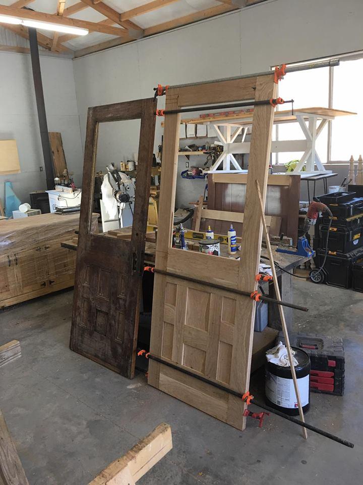 Farmhouse Wood Door Re-Built, Reclaimed Wooden Door, Rustic Wood Door, Handmade Door, Woodworking