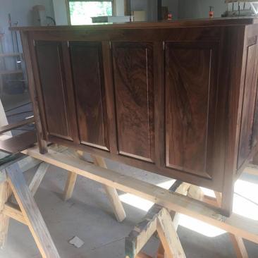 Hardwood Office Furniture, Desk, Home Office, Hardwood Office Furniture, Computer Desk, Writing Desk, File Cabinet, Keyboard Tray, Custom Size, Skaggs Creek Wood Shop