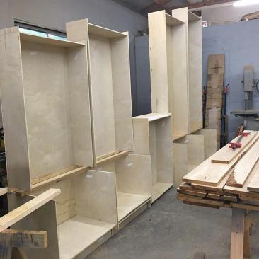 Bookcase, Wood Shelving Unit, Custom Built-Ins, Desk, Cabinets, Adjustable Shelves, Book Shelf, Storage, Wall Unit, Skaggs Creek Wood Shop