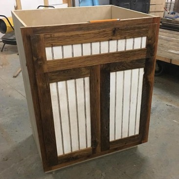 Rustic Kitchen Cabinets, Flat Pack Cabinets, RTA Wood Cabinets, Custom DIY Cabinets, Cabinets to Go, Rustic - Reclaimed Wood, Made in USA, Skaggs Creek Wood Shop