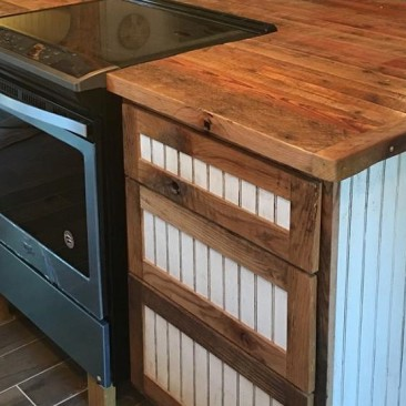 Kitchen Island, Flat Pack Cabinets, RTA Wood Cabinets, Custom DIY Cabinets, Cabinets to Go, Rustic - Reclaimed Wood, Made in USA, Skaggs Creek Wood Shop