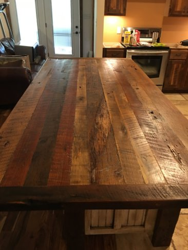 Butcher Block Counter-Top, Kitchen Island with Storage, Rustic, Shabby Chic, Wood Kitchen Islands, Custom Made Kitchen Design, Utility Table, Prep Table, Butcher Block