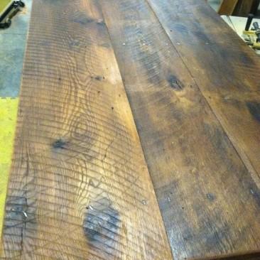 Farmhouse Kitchen Table, Rustic Dining Table, Reclaimed Barnwood, Skaggs Creek Wood Shop