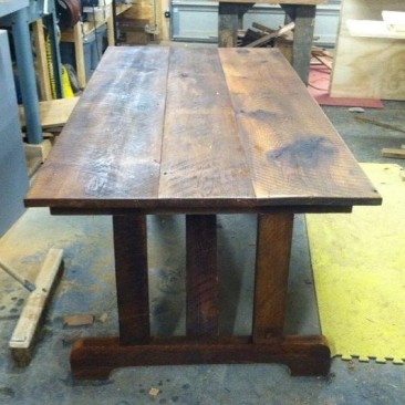 Kitchen Table, Farmhouse Table, Rustic Small Table, Rectangle Dark Wood Table, Custom Home Furniture, Dining Room, Skaggs Creek Wood Shop