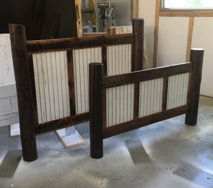 Queen Bed Frame, Headboard, Foot-board, Reclaimed Barn Wood, Custom Made Bedroom Furniture, Bedframes, Platform Bed, Skaggs Creek Wood Shop