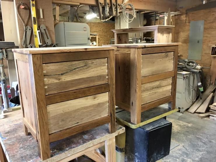 Barn Wood Nightstand, Rustic Nightstands, Bedroom Suites, 2-Drawers, Bedside Table, Bedroom Furniture Set Side Table, Skaggs Creek Wood Shop