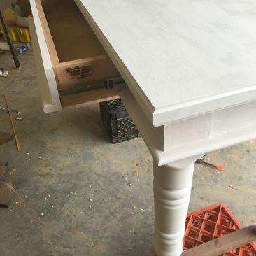 Whitewash Wood Desk, Hardwood Office Furniture, Computer Desk, Writing Desk, File Cabinet, Keyboard Tray, Custom Size, Skaggs Creek Wood Shop