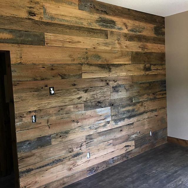Barnwood Accent Wall, Weather Wood Wall, Farmhouse Ceiling, American Barn Wood, Siding Wall, Wall Paneling Covering, Skaggs Creek Wood Shop