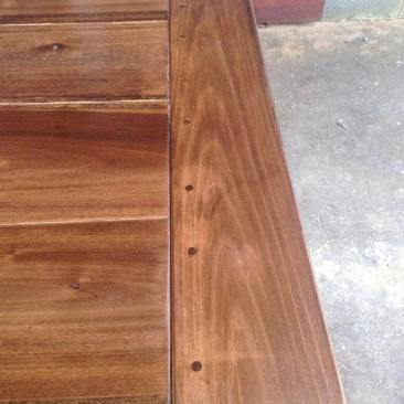 Dining Room Table, Kitchen Table, Farmhouse Harvest Wood Table with Benches, Wood Kitchen Table, Custom Home Furniture, 7-Feet Long Table, Skaggs Creek Wood Shop