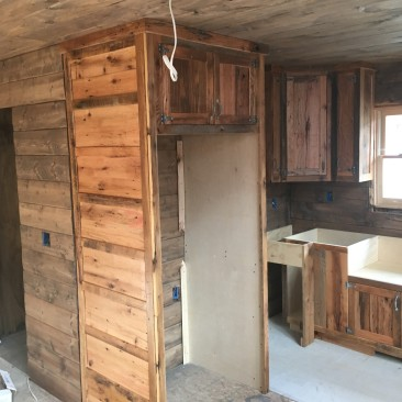 Flat Pack Cabinets, RTA Wood Cabinets, Custom DIY Cabinets, Cabinets to Go, Rustic - Reclaimed Wood, Made in USA, Skaggs Creek Wood Shop