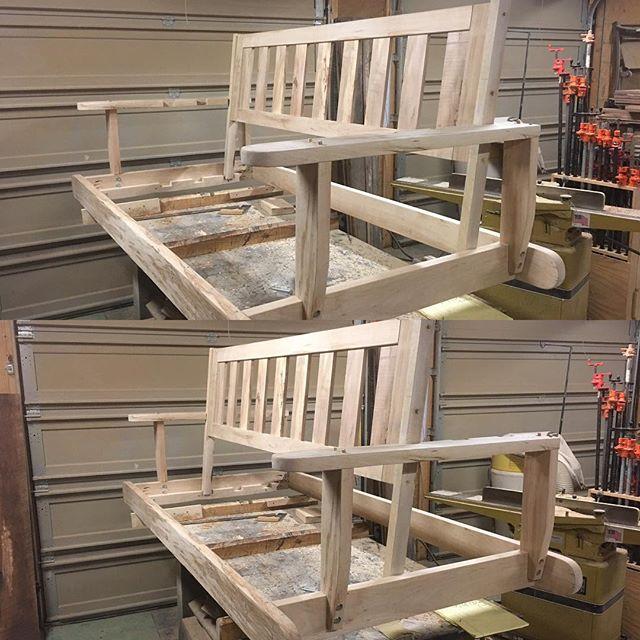 Bed Swing, Porch Swing, Wooden Swinging Bed, Wooden Outdoor Bed, Indoor Swing Bed Frame, Porch Bed, Day Bed, Porch Swing, Twin Mattress, Skaggs Creek Wood Shop