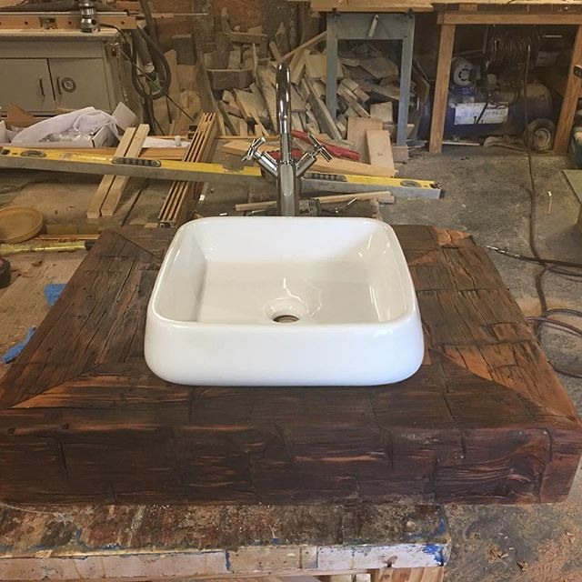 Wood Bathroom Vanity, Bathroom Vanities, Vanity Cabinets, Reclaimed Rustic Bathroom Furniture, Sink Cabinet Storage, Skagg Creek Wood Shop