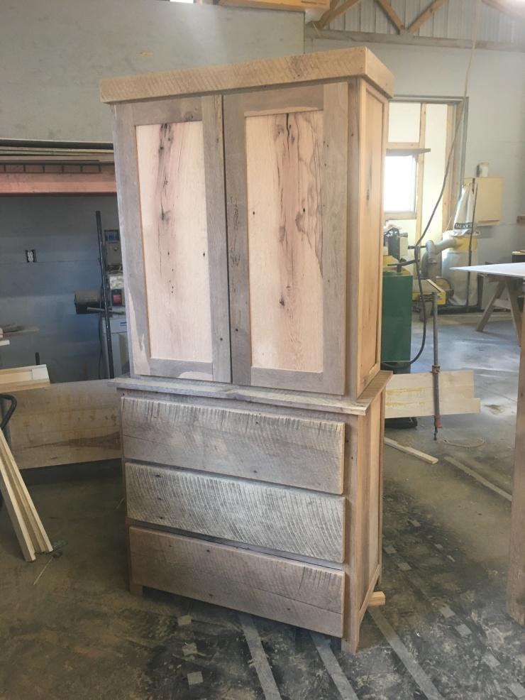 Armoire, Wardrobe, Dresser, Reclaimed Barn Wood, Bedroom Furniture Set, Rustic, Cabin, Cottage, Farmhouse Furniture, Skaggs Creek Wood Shop