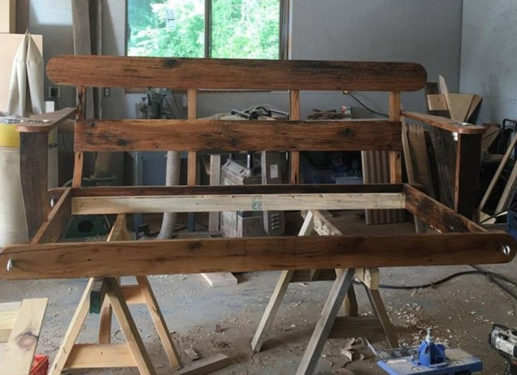 Porch Swing Bed, Swing Bed, Outdoor Daybed, Swing Bed Frame, Porch Bed, Day Bed Outdoor, Porch Swing, Twin Mattress, Skaggs Creek Wood Shop