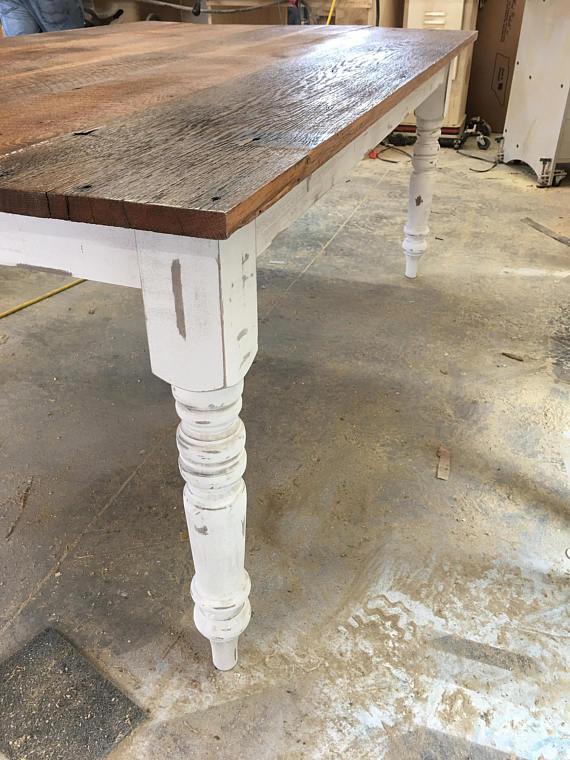 Chippy White Chalk Paint – Table Legs