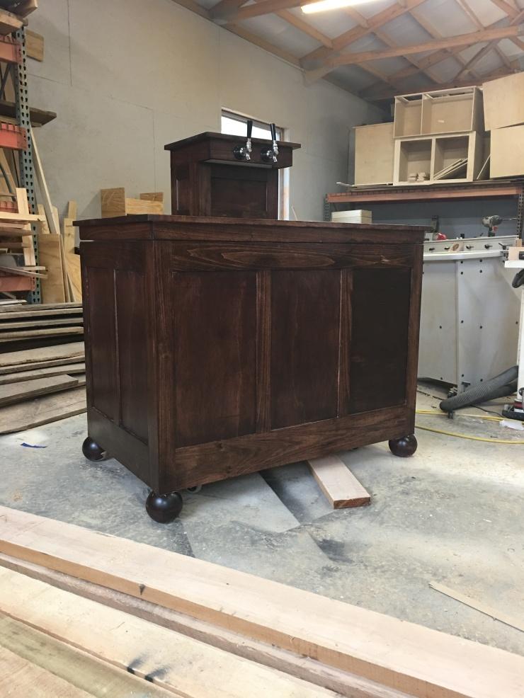 Kegerator, Beer Coolers, Dispensers, Custom-Made Kegerators, 5th Anniversary Wood Gift, Personalized Bar Furniture, Skaggs Creek Wood Shop