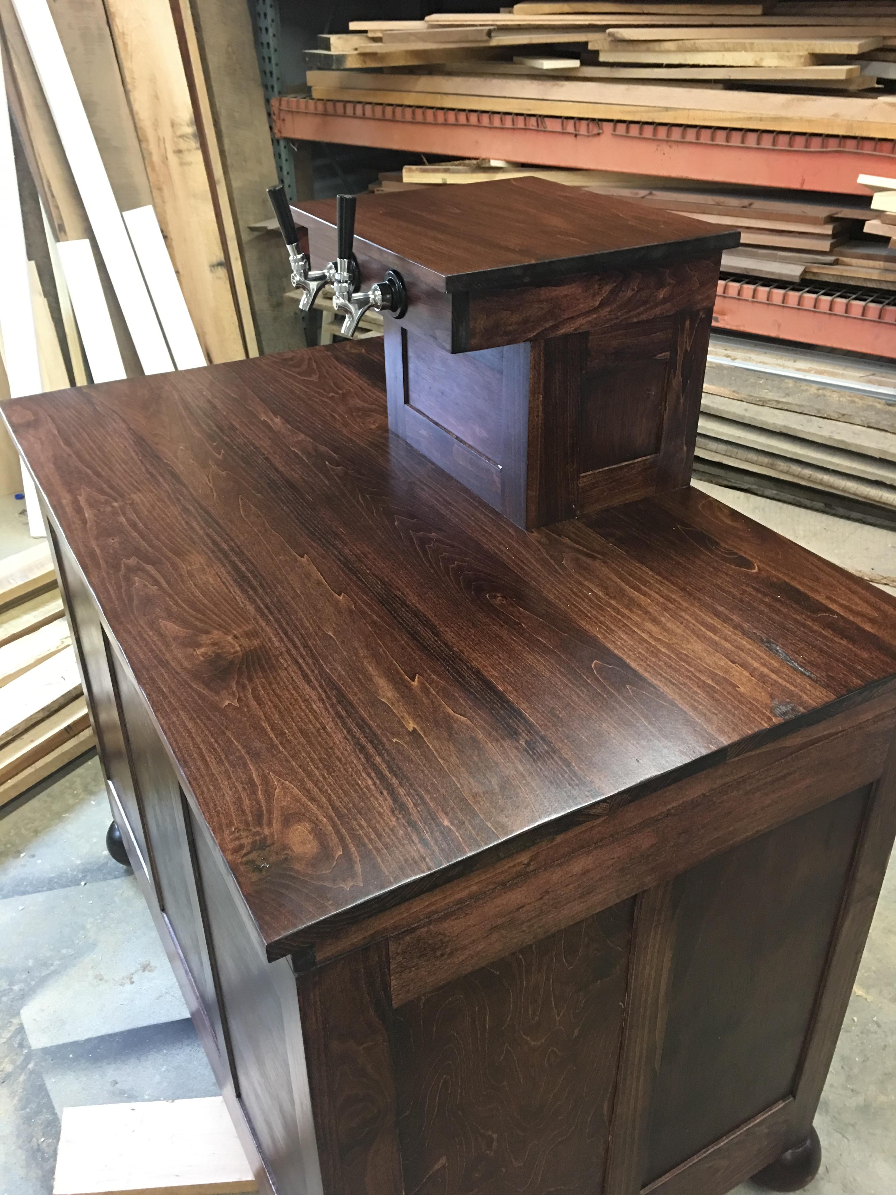 ... Kegerator, Beer Coolers, Dispensers, Custom Made Kegerators, 5th  Anniversary Wood Gift Custom Made Kegerator Cabinet ...