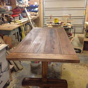 Kitchen Table, Dining Room Table, Farmhouse Furniture, Harvest Wood Table with Benches, Rustic Kitchen Table, Chairs, Skaggs Creek Wood Shop