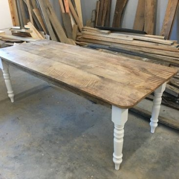 Kitchen Table, Dining Room Table, Harvest Table w/ Matching Bench, Farmhouse Furniture, Large Table, Reclaimed Wood, Skaggs Creek Wood Shop