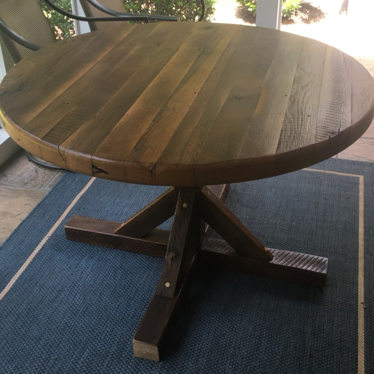 Kitchen Table, Circle Table, 48-Inch Round Table, Dining Room Table, Porch Table, Farmhouse Rustic Kitchen Furniture, Skaggs Creek Wood Shop