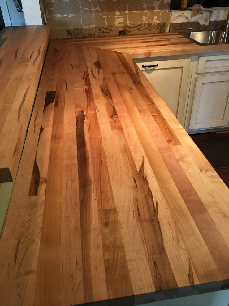 Kitchen Countertops, Butcher Block Maple Tops, Wood Countertop, Custom Made Wood Countertops, Kitchen Island Top, Skaggs Creek Wood Shop