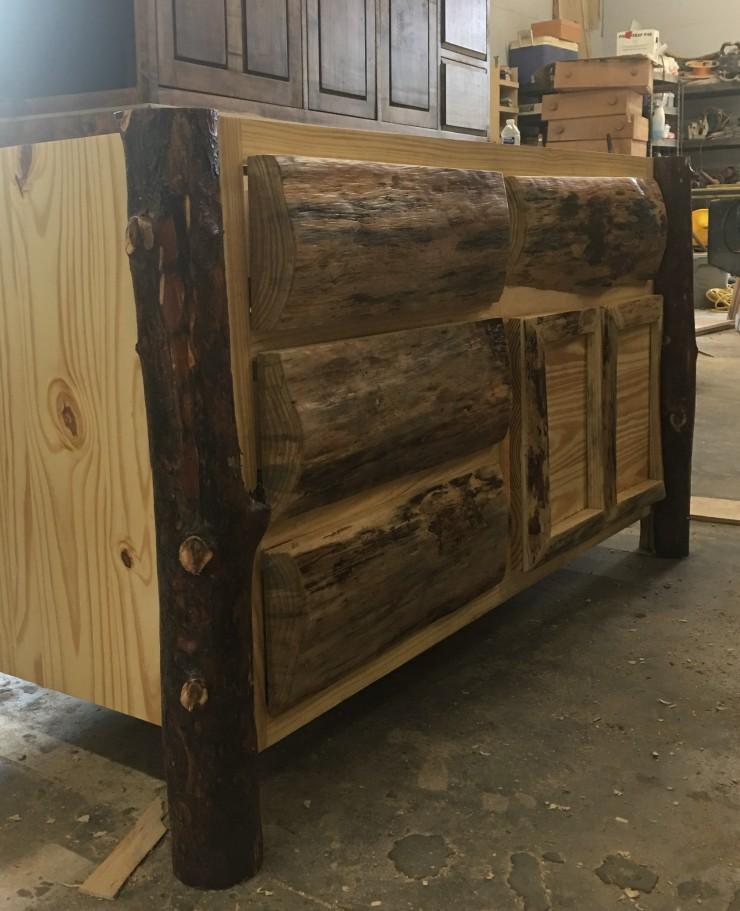 Log Style Vanity, Bathroom Vanities, 54-Inch Furniture Style Vanity, Reclaimed Wood Bathroom Cabinet and Storage, Skaggs Creek Wood Shop
